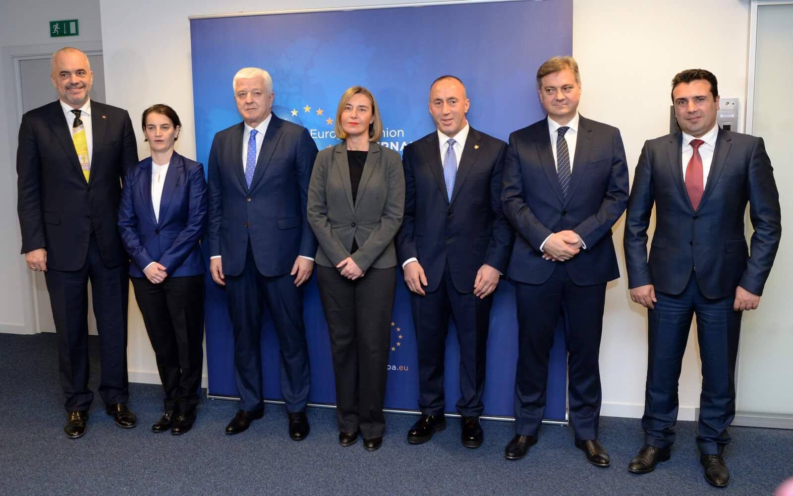 PM Zaev comments the meeting with the prime ministers of the region and Mogherini