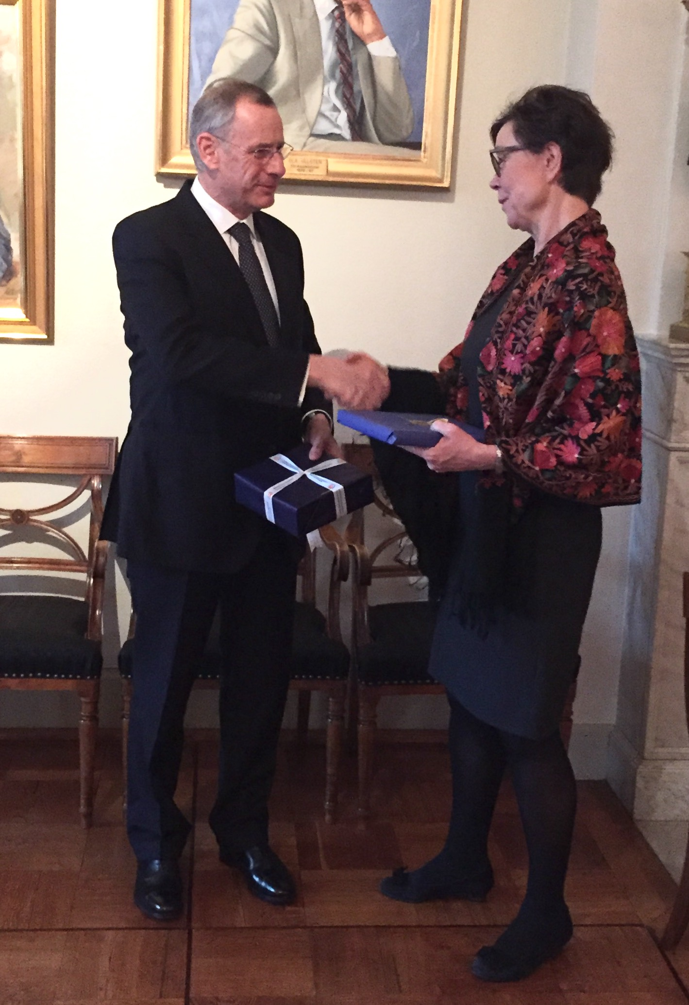 Permanent Secretary of Cyprus' Foreign Ministry on a working visit to Sweden
