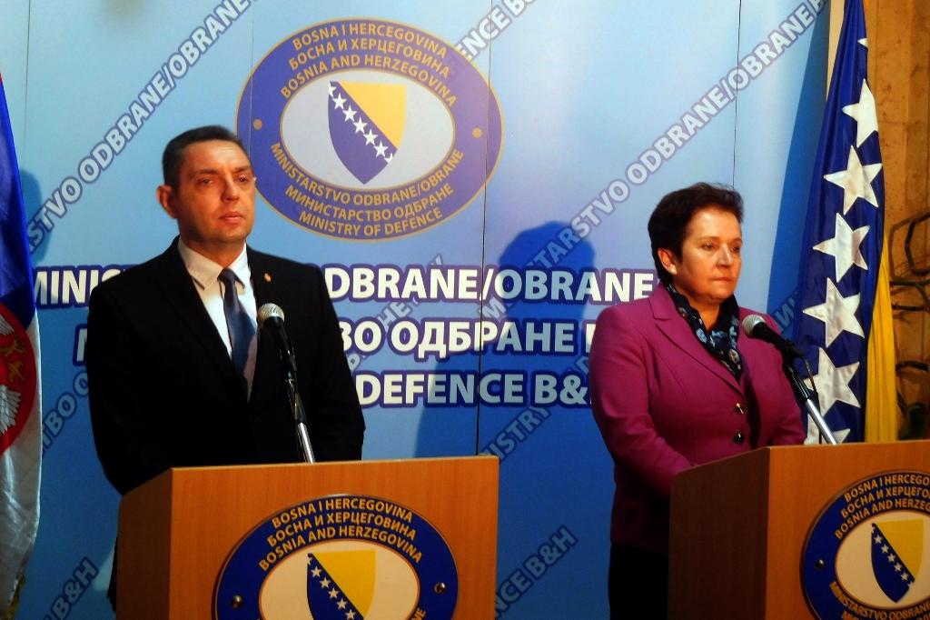 Serbian Defence Minister Aleksandar Vulin on an official visit to BiH