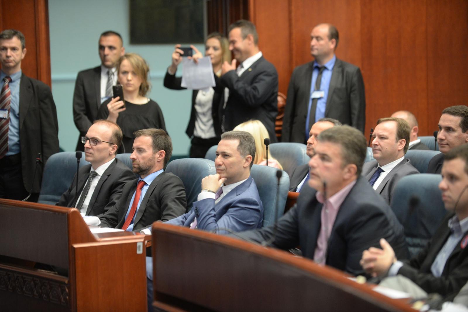 VMRO-DPMNE boycotts parliament