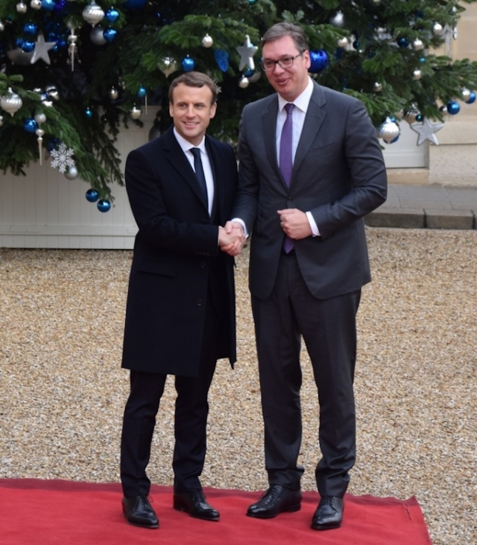 Vucic claims that Macron was exceptionally polite with him