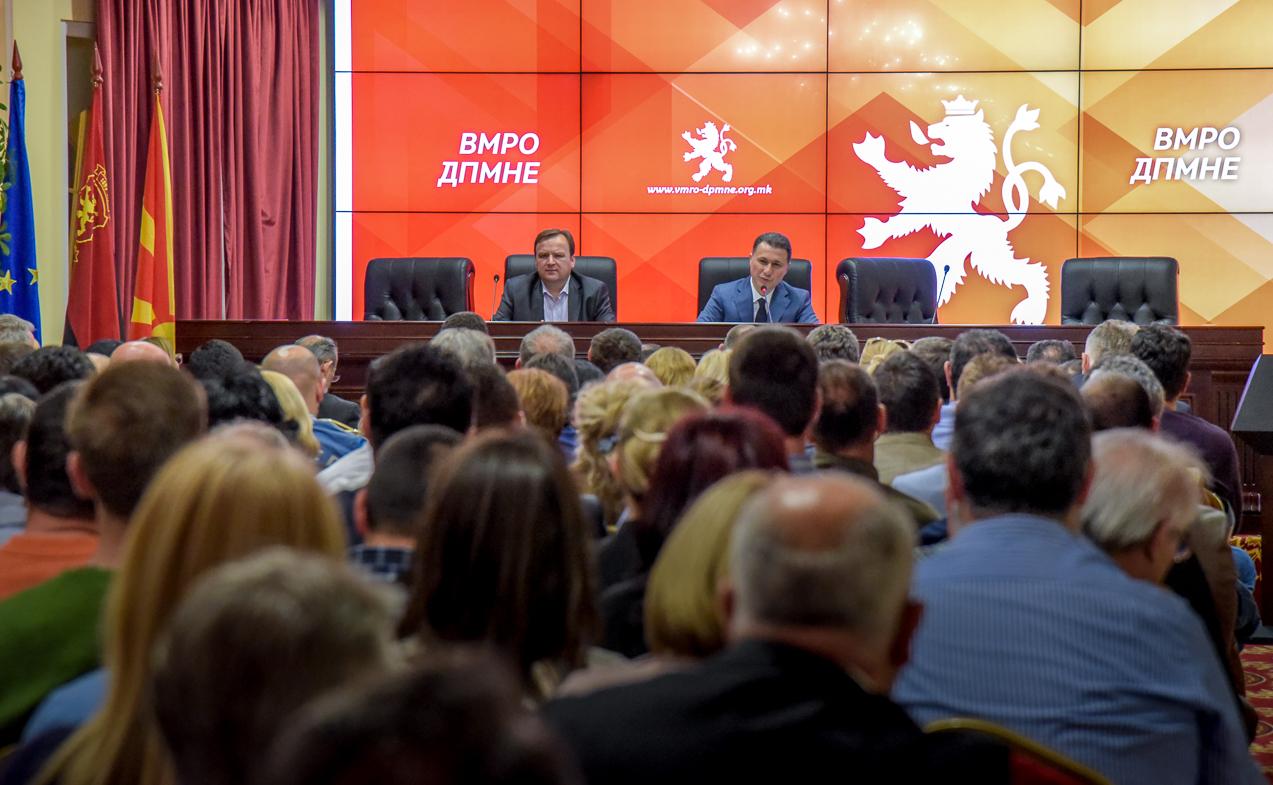 Nikola Gruevski officially resigns as leader of VMRO-DPMNE