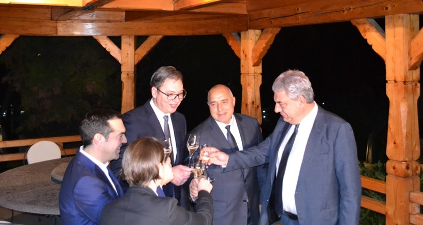 The 2nd Summit of Greece, Serbia, Bulgaria, Romania began with a working dinner