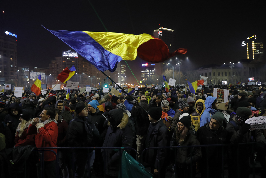 Protests against the amendment of laws of justice continue in Romania