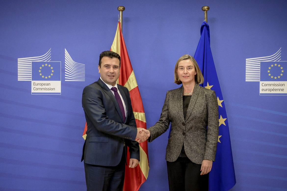 Mogherini – Zaev: appreciated progress, dialogue with the opposition is required