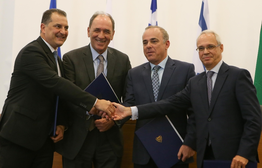 Energy Ministers of Cyprus, Greece and Israel and the Italian Ambassador in Cyprus sign MoU on EastMed pipeline project