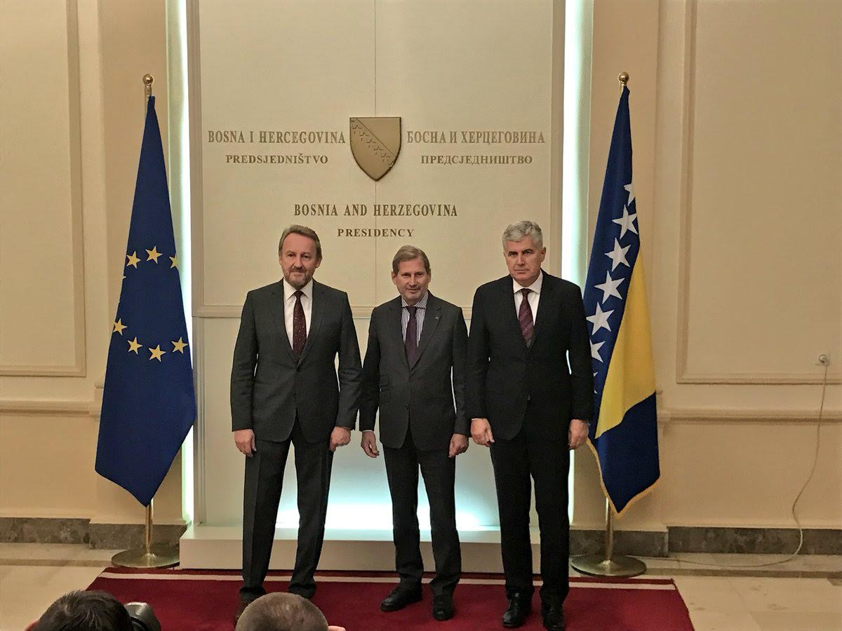 Johannes Hahn in BiH: Candidate status is not free lunch