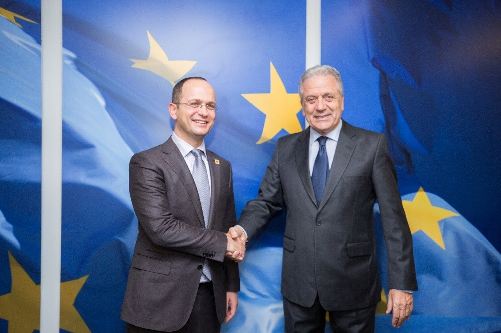 Albania's Foreign minister meets top EU officials in Brussels