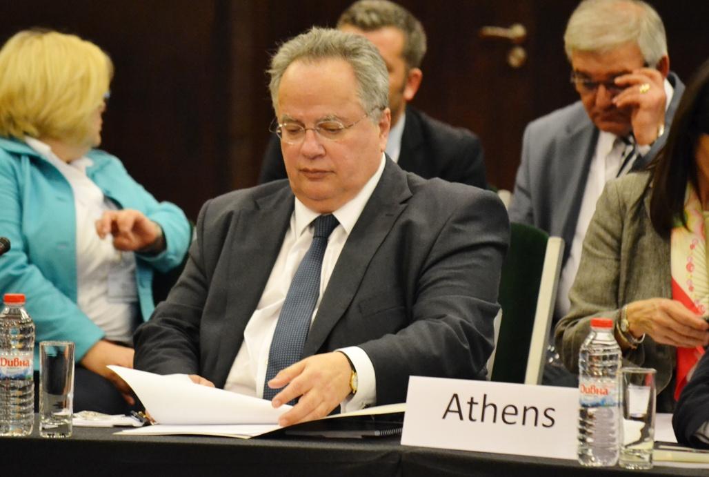 Nikos Kotzias in Brussels on December 5-6
