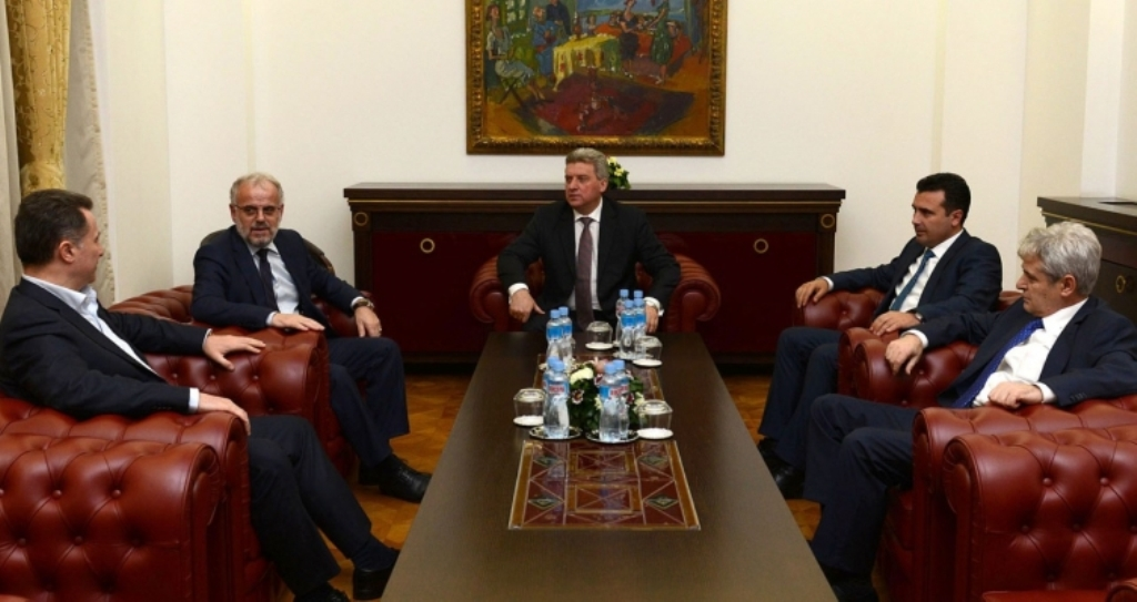 Political leaders meet in Skopje to discuss the latest political tension