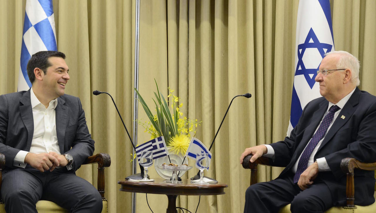 Tsipras to Rivlin: 'You come at a symbolic moment'