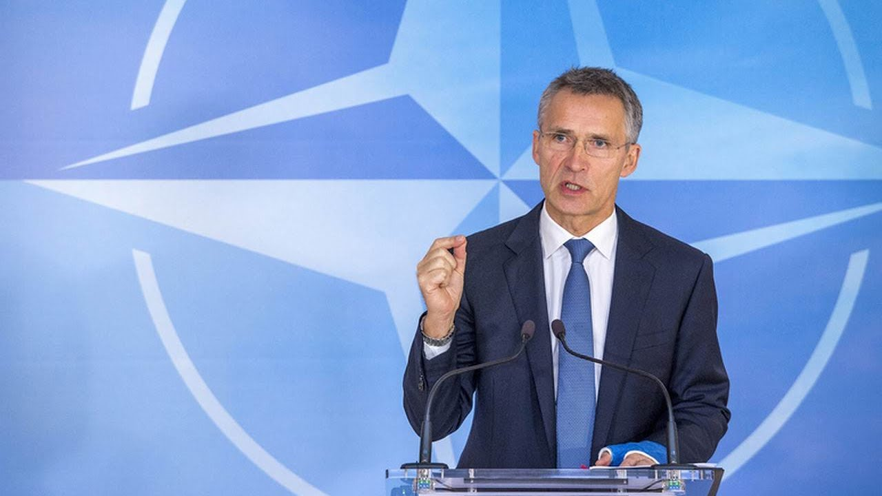 NATO's Jens Stoltenberg on a two-day visit to Skopje, on 17-18 January