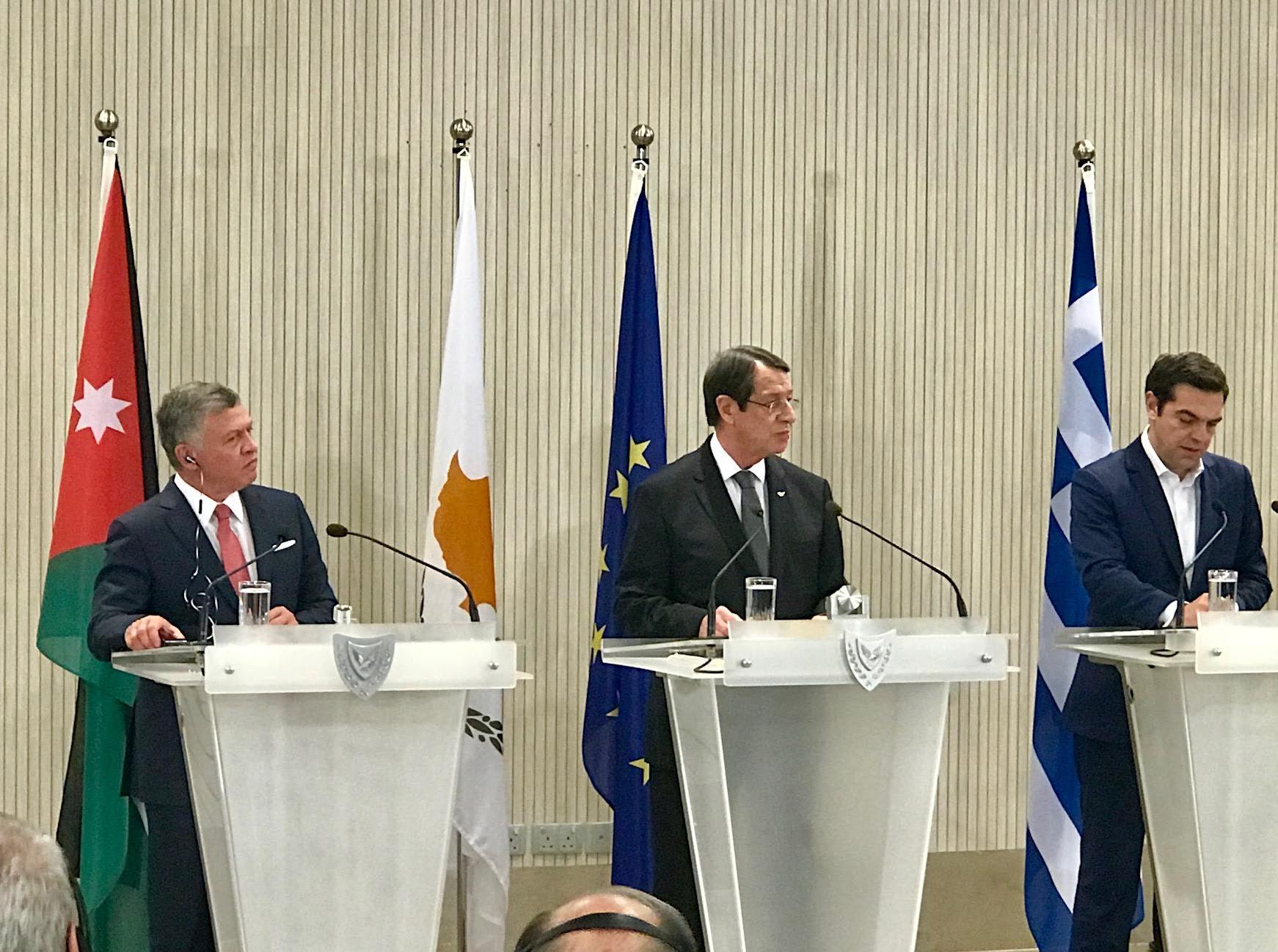 Cyprus-Greece-Jordan First Trilateral Summit Declaration