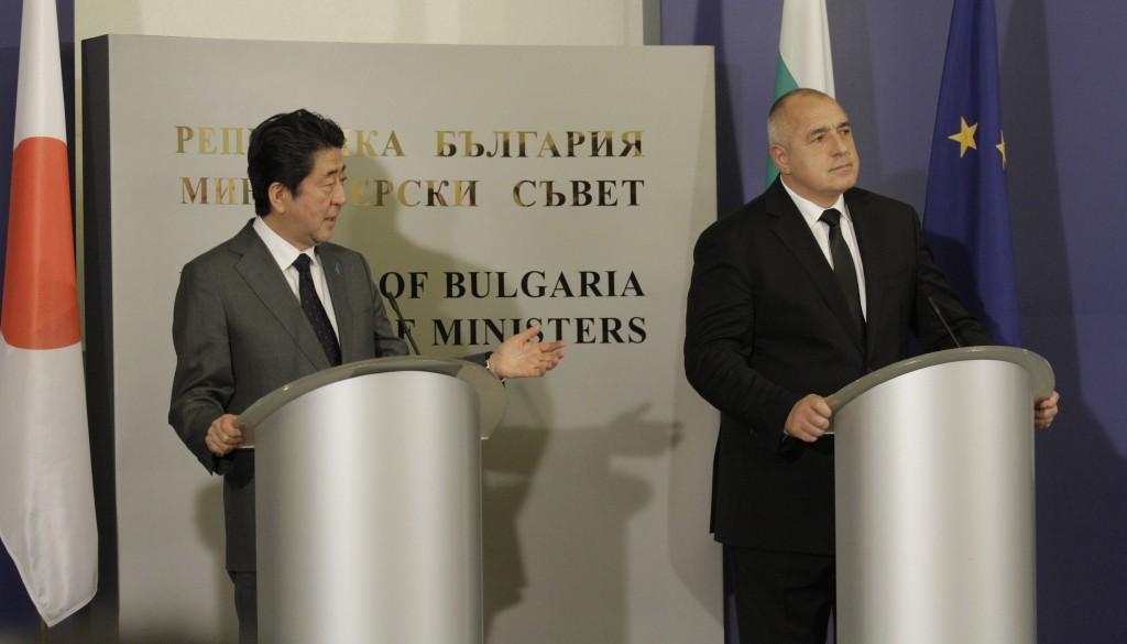 Shinzō Abe met with the Bulgarian president Borissov in Sofia