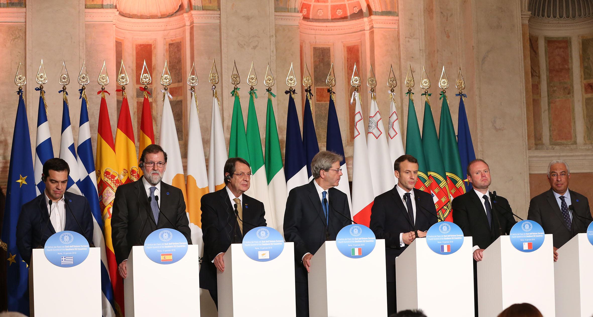 Δηλώσεις του ΠροέδρουΑναστασιάση κατά την 4η Σύνοδο Κορυφής των ηγετών των νοτίων χωρών μελών της ΕΕ, στη Ρώμη