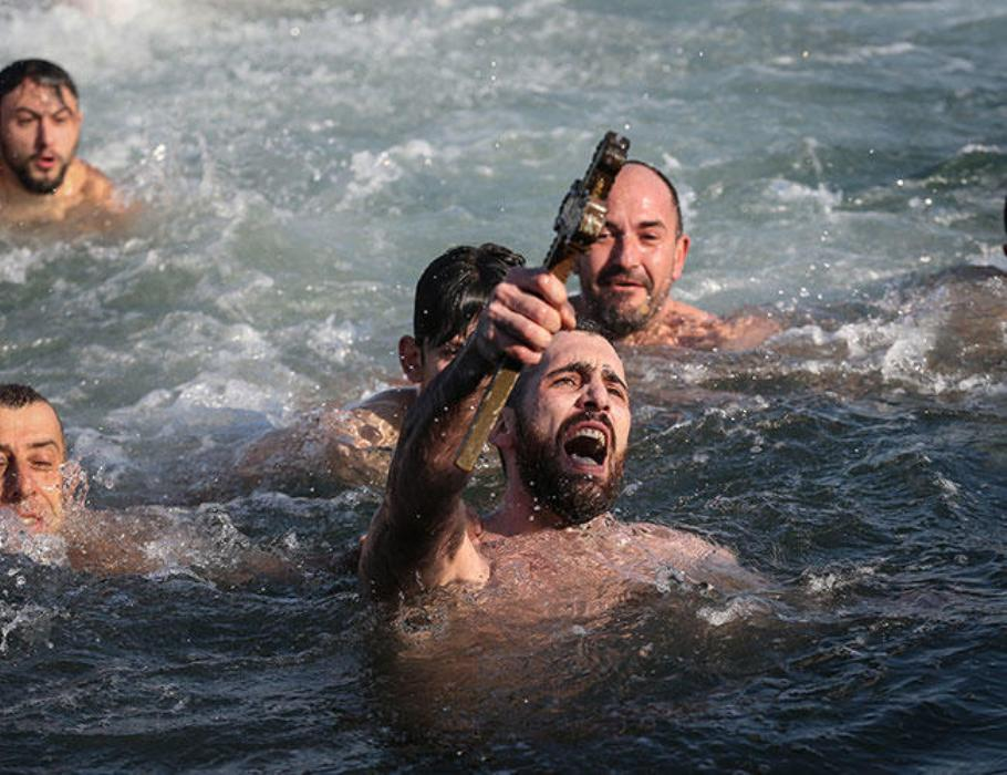 Greek Orthodox Christians in Turkey celebrate Epiphany