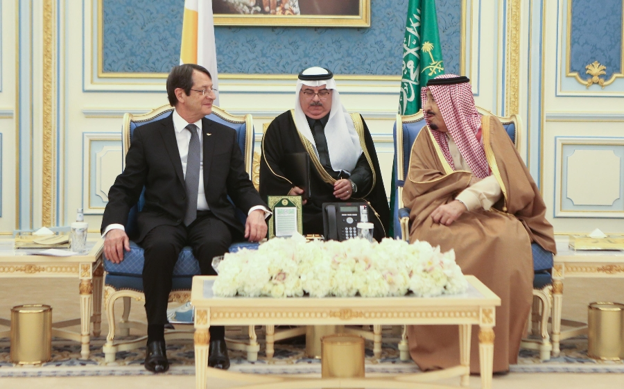 Nicos Anastasiades met with the King of Saudi Arabia