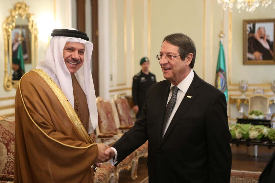 President Anastasiades met with the Secretary-General of the Gulf Cooperation Council