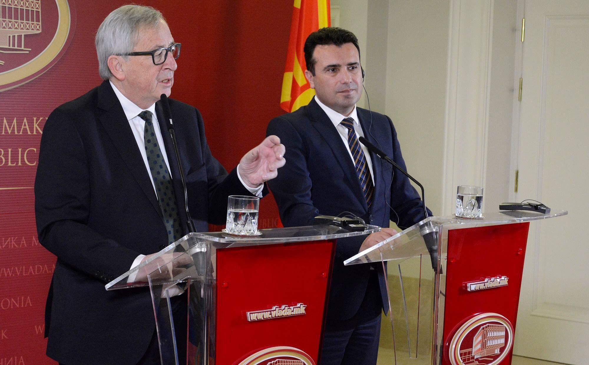 Juncker: If fYROM continues along this path, the European perspective will not be conditioned