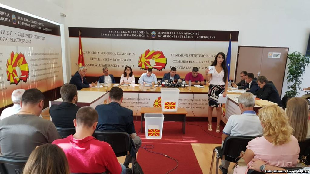 Debates over the creation of the State Election Commission in FYROM