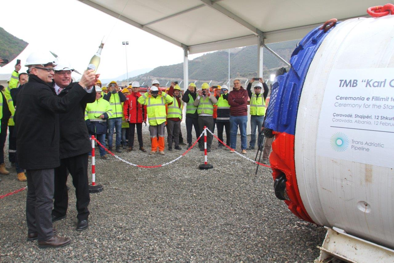 TAP, construction of the 1.5 km long micro-tunnel starts