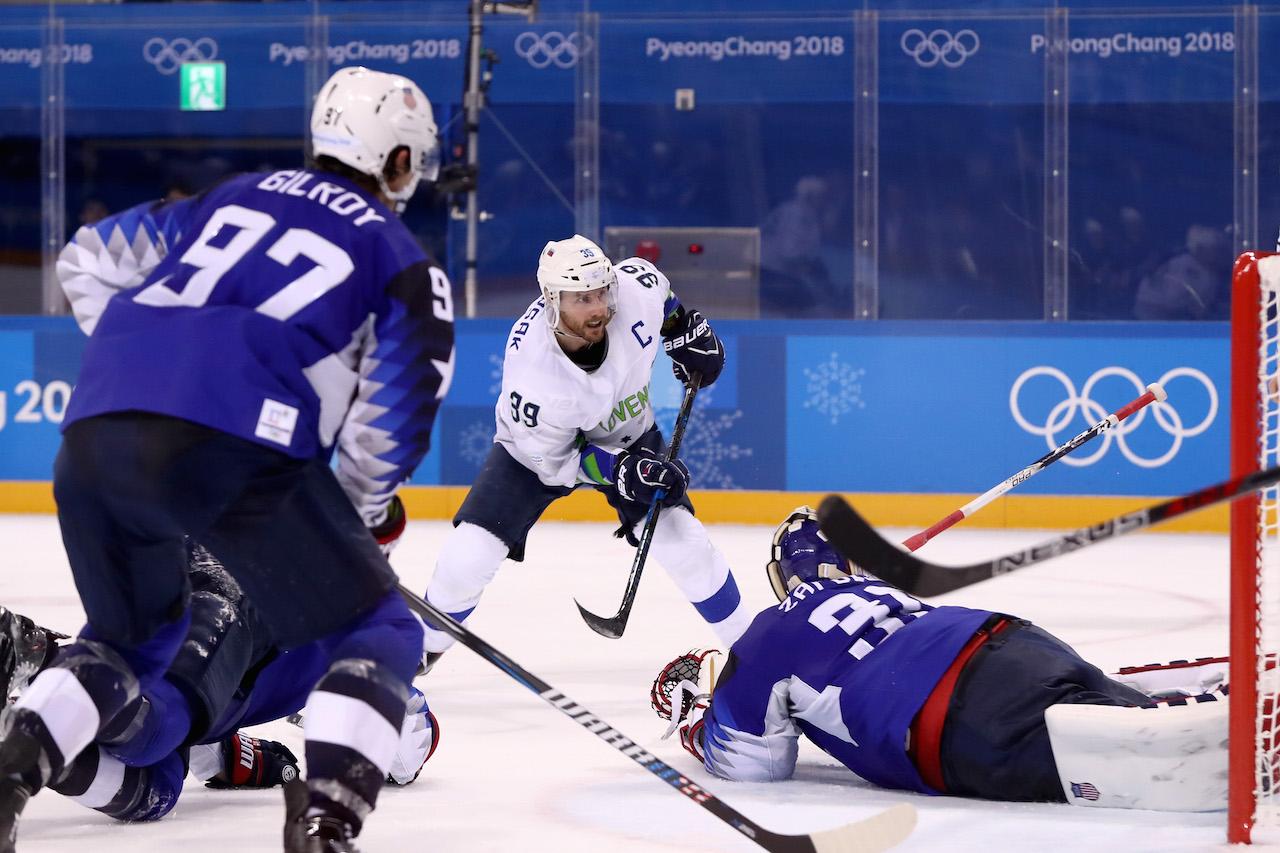 Winter Olympics: Slovenianmen's ice hockey team beat the U.S.