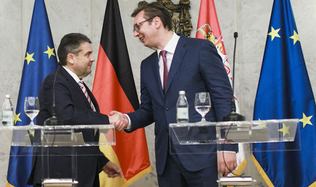 Vucic, his red neck and high blood pressure and the German FM