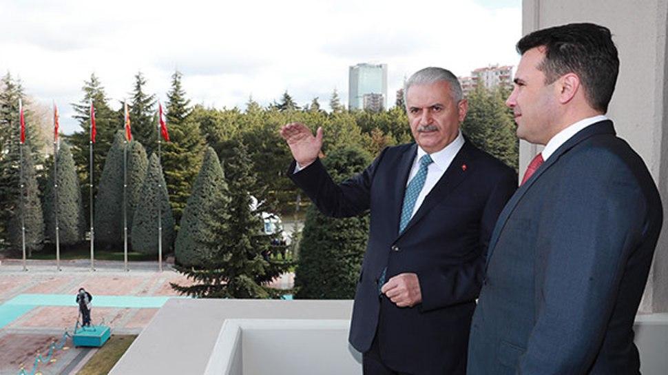 Συναντήσεις Zaev με Yildirim Erdogan στην Άγκυρα