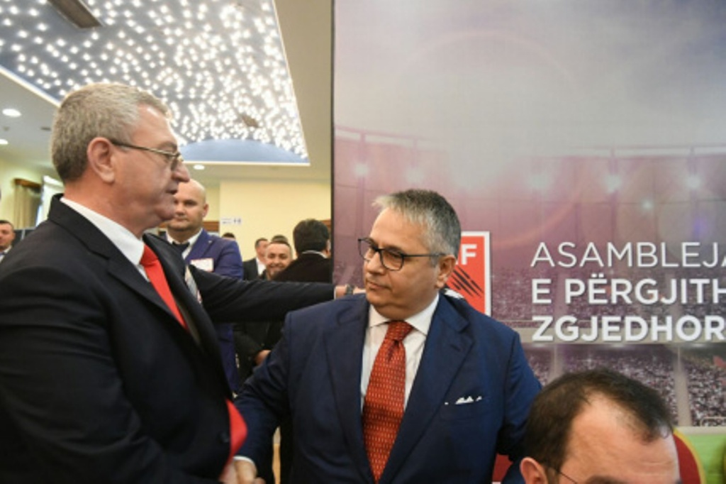 President of Albanian Football Association wins a fifth term in office