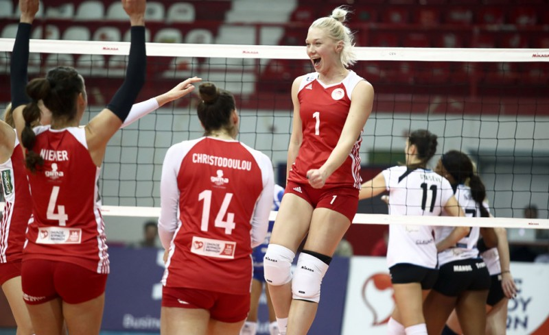 Women's Olympiacos team 'books' ticket to Challenge Cup quarterfinals