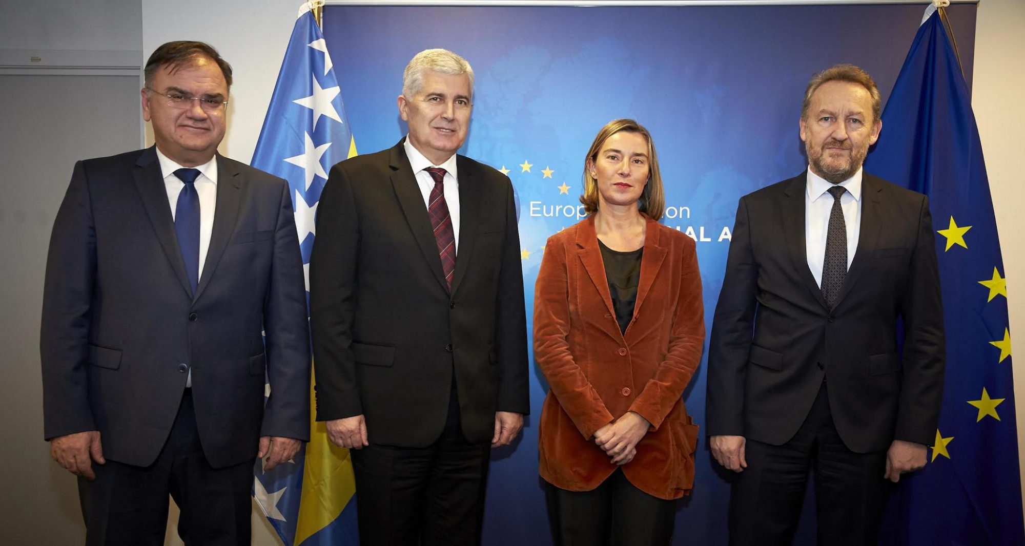 BiH Presidency members hold meetings in Brussels