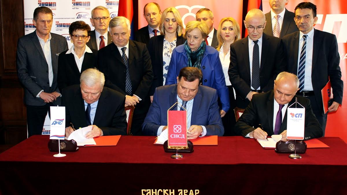 SNSD, DNS and SP renewed coalition in BiH