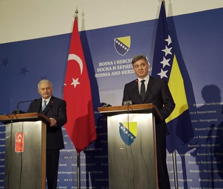 Turkish PM Yildirim onofficial visit to BiH
