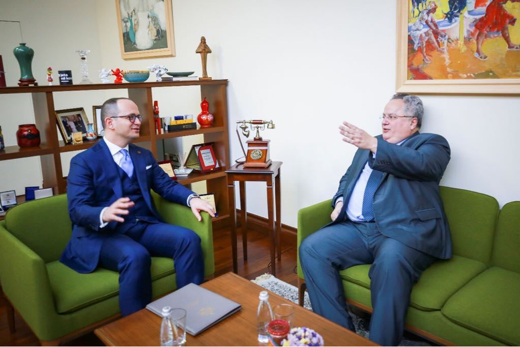 Bushati and Kotzias meet in Tirana