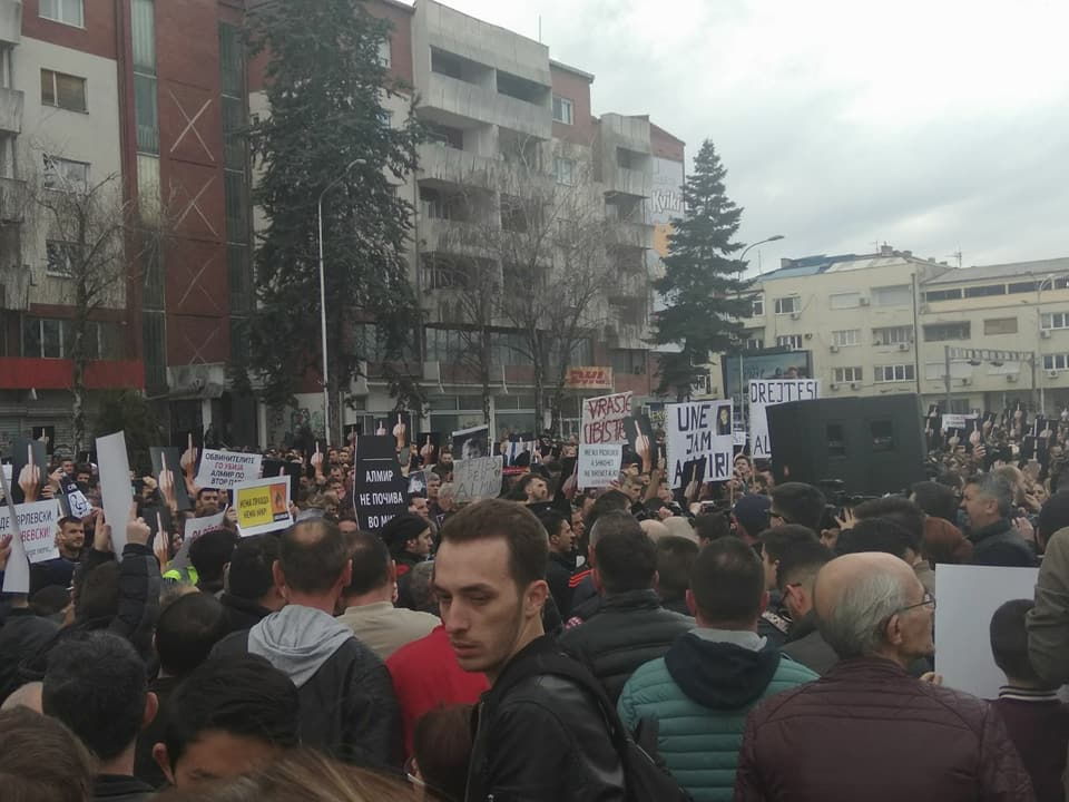 Protest for the death of a four year old child held in Skopje