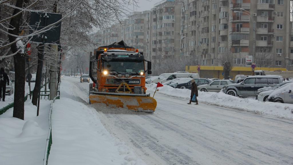 'Siberian' blast in Bulgaria and Romania