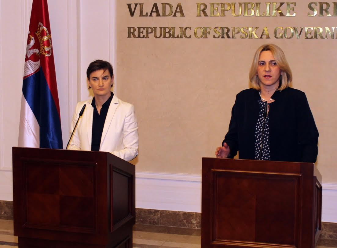 Serbian PM Brnabic visits Banja Luka