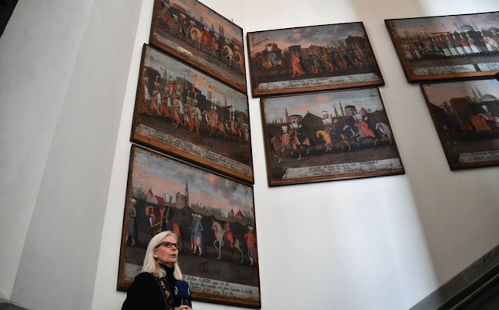 17th-century paintings depicting Ottoman Sultan exhibited in Stockholm