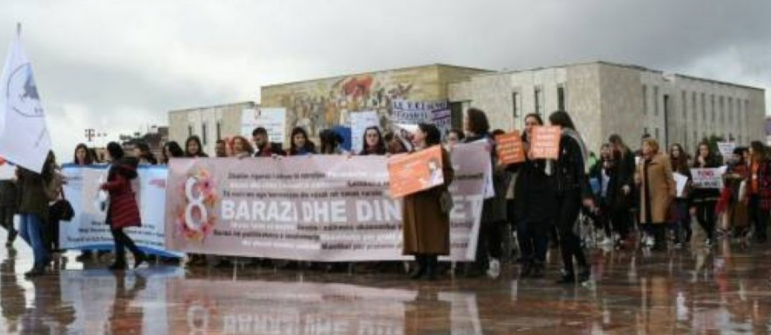 March 8, women protest and celebrate