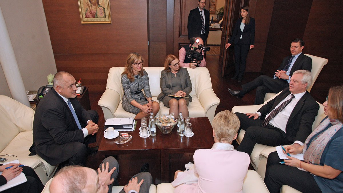 Bulgarian PM Borissov, Brexit secretary Davis talk bilateral relations