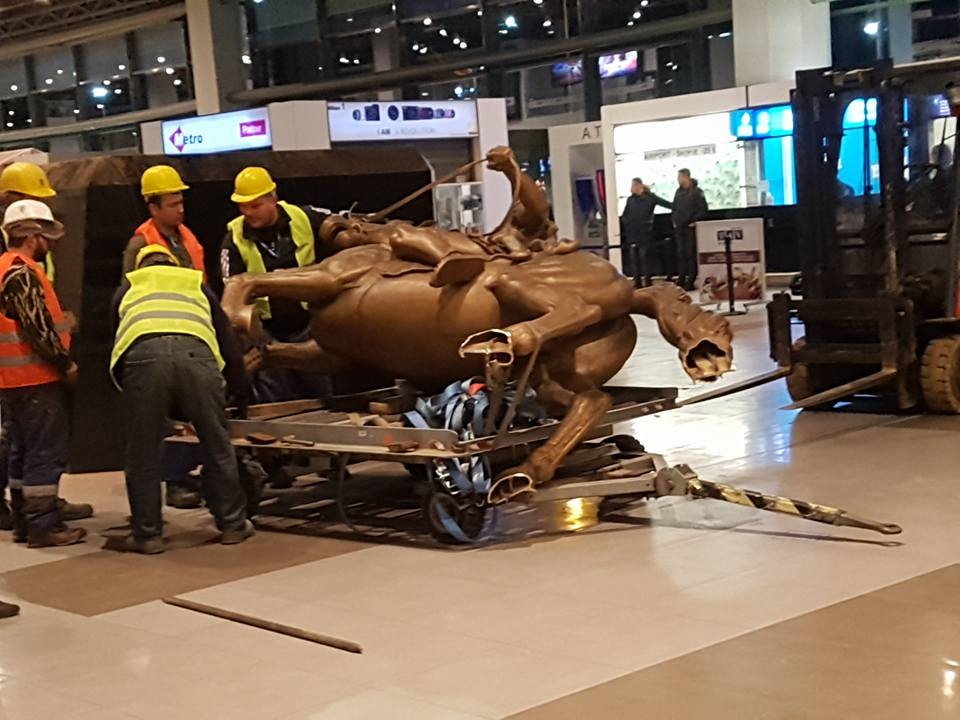 Alexander the Great monument removed from Skopje's airport