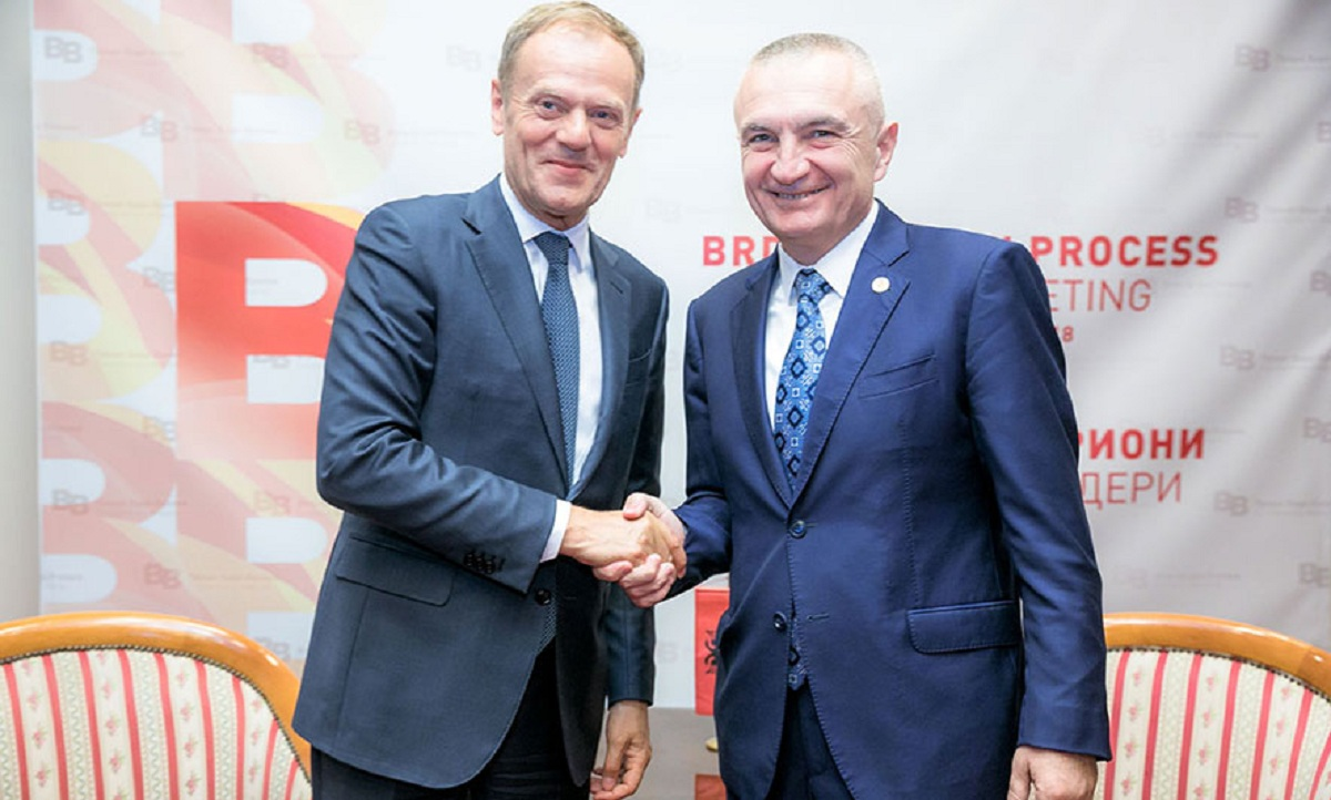 President Meta meets the head of the EU Council in Skopje