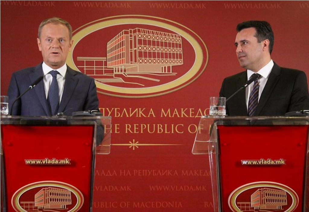 Tusk in Skopje: There are great changes in the political mentality in FYROM