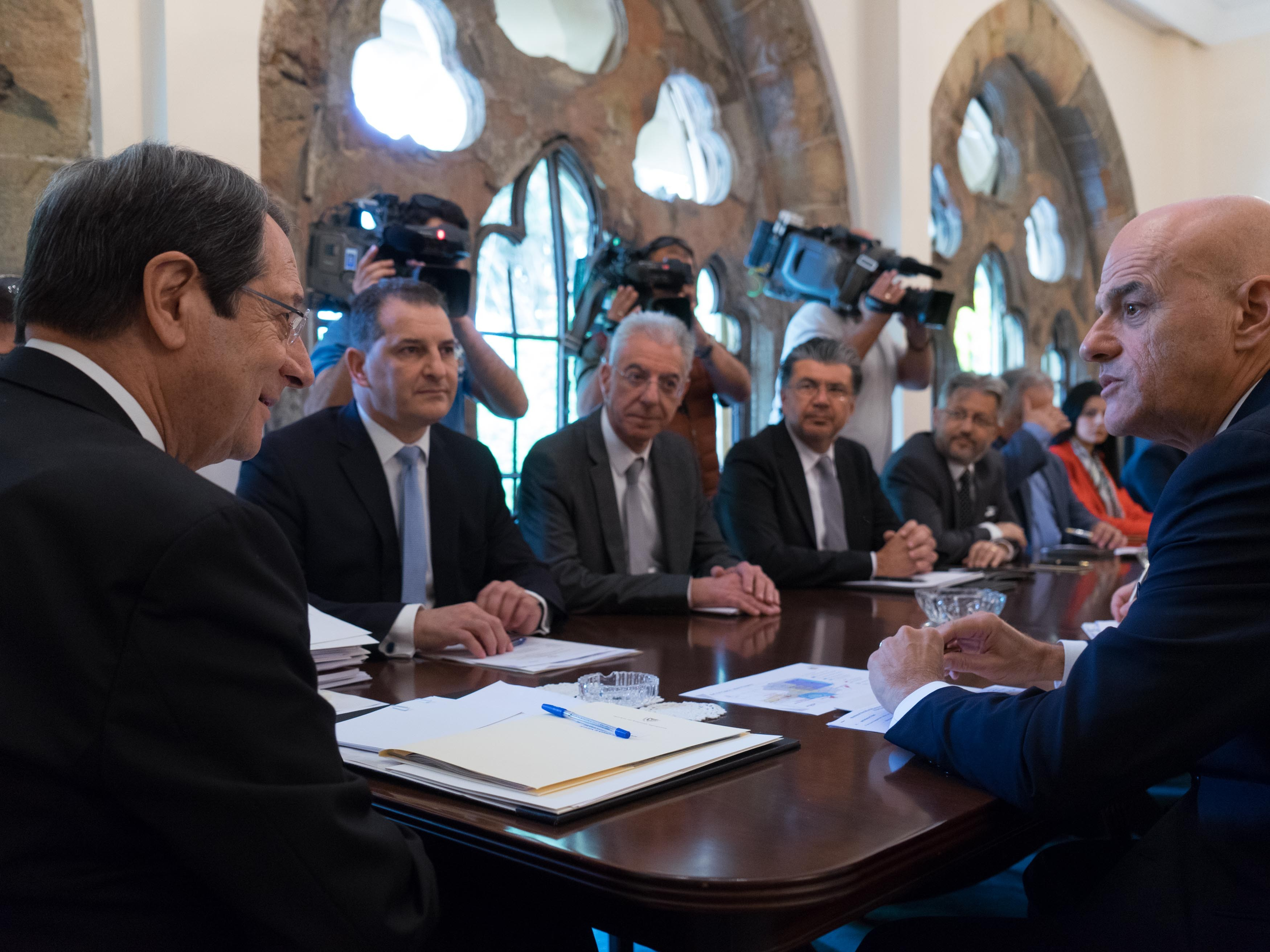 President Anastasiades received the Executive Director of ENI