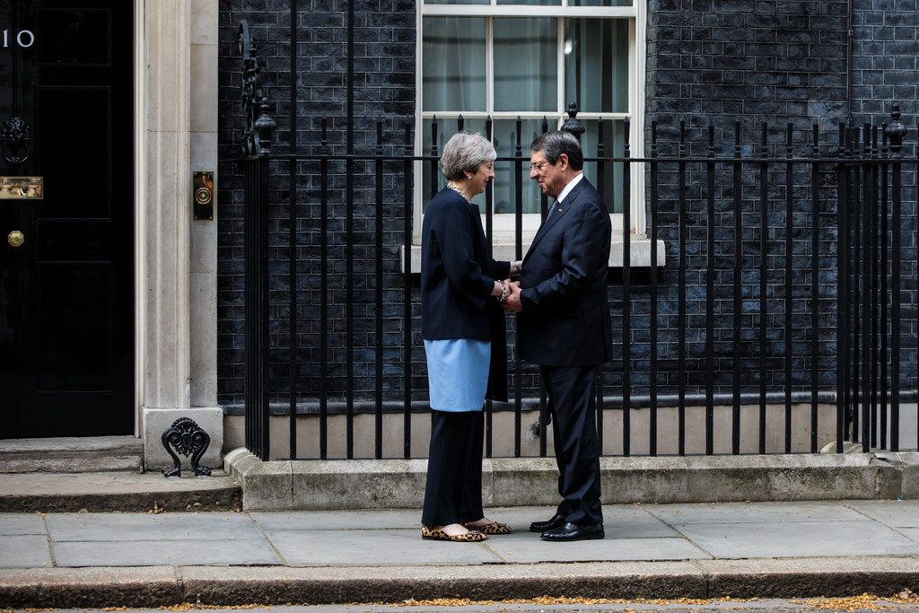 President and Foreign Minister push Cyprus's case during London trip