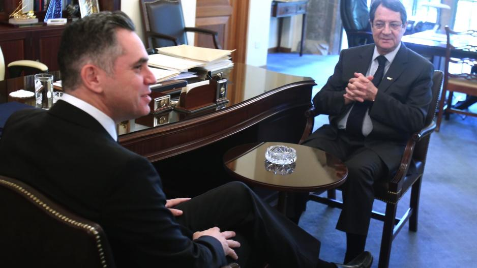 President Anastasiades met with the presidents of DIKO and EDEK