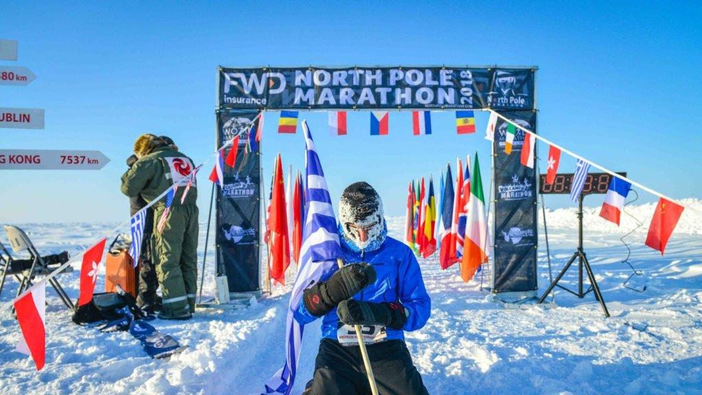 Greek runner braves cold, wins North Pole Marathon 2018