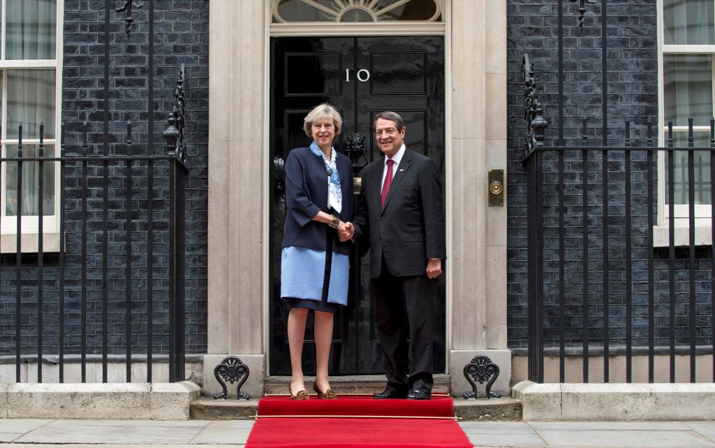 President Anastasiades met with the Prime Minister of Britain