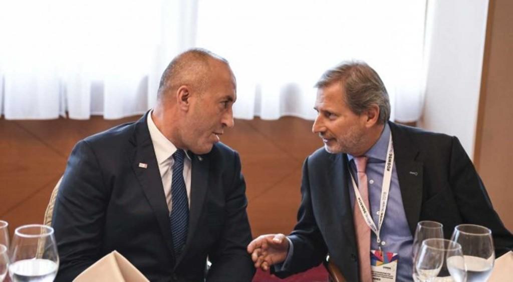 Haradinaj meets Hahn in Skopje