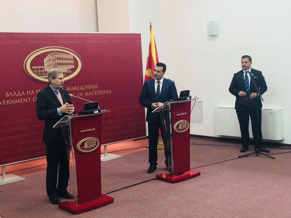 Hahn encourages the government in Skopje to do more